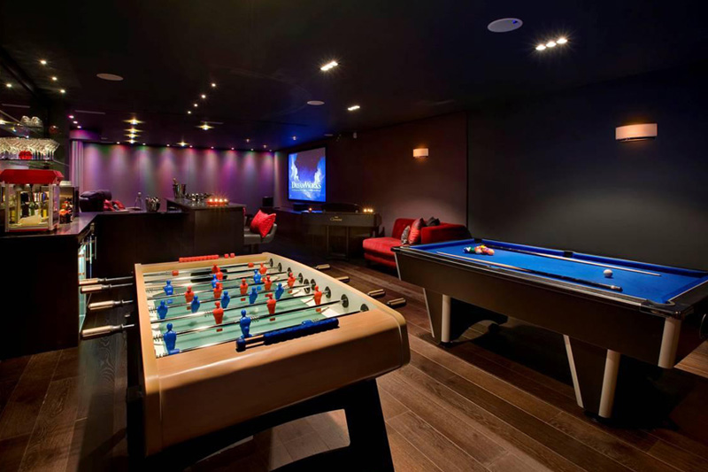 Gaming Room Ideas Modern Apartment Property Home Harrison Varma London Uk Games Room Bar