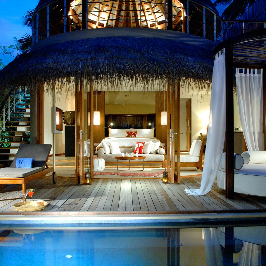 The exclusive w retreat and spa maldives adelto adelto for Exclusive luxury accommodation