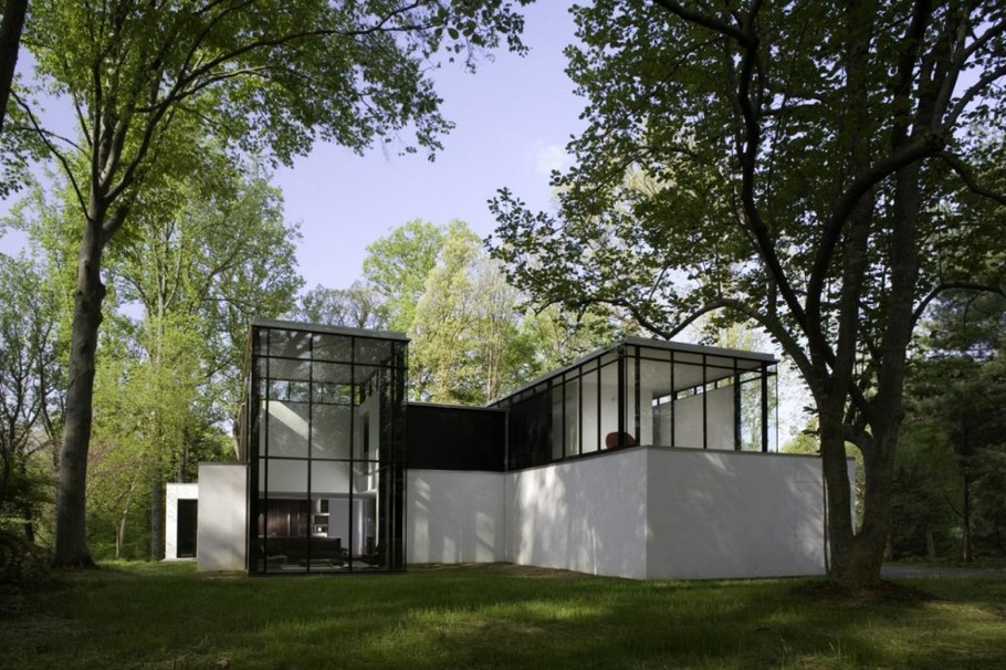 2 BlackWhite residence in Maryland by David Jameson Architect