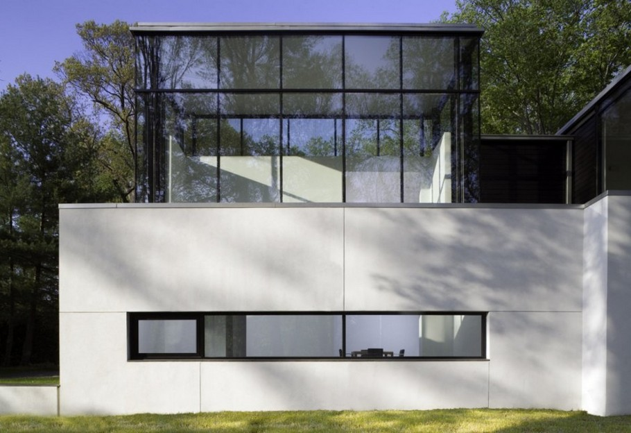 6 BlackWhite residence in Maryland by David Jameson Architect