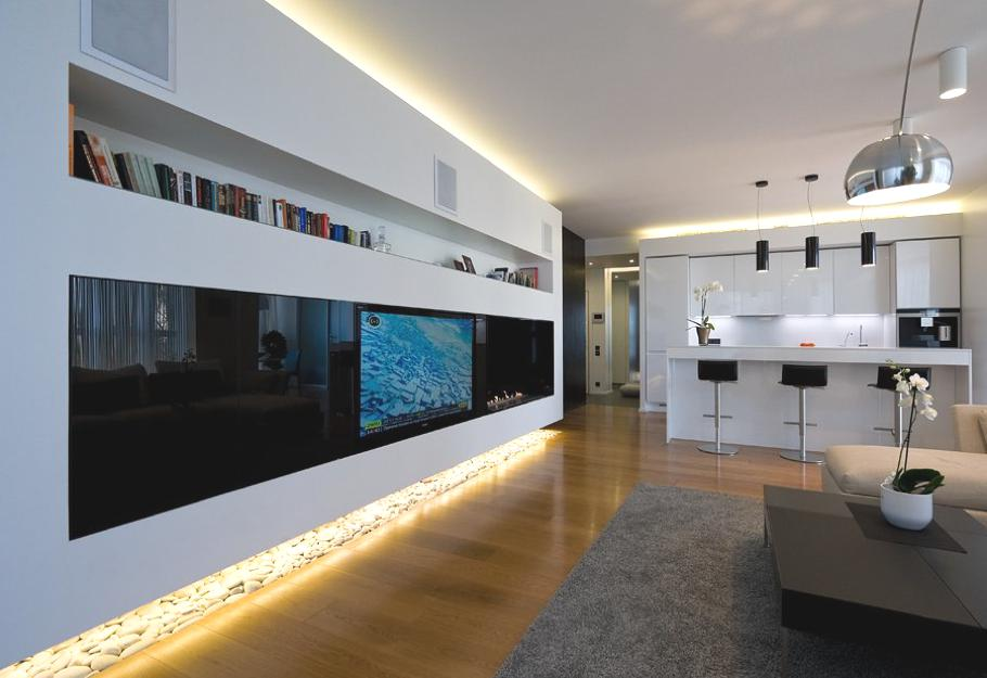 High definition contemporary apartment moscow russia - Iluminacion led hogar ...