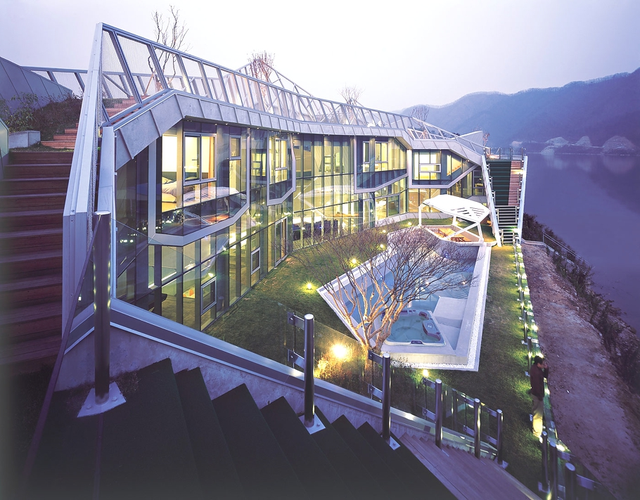 Luxury island house south korea adelto adelto for Modern house korea