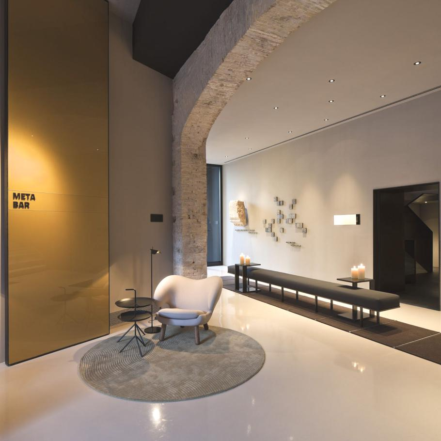 interior design of the contemporary caro hotel spain