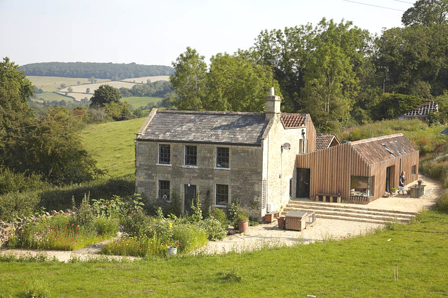 Contemporary farmhouse extension bath england adelto for Modern house uk for sale