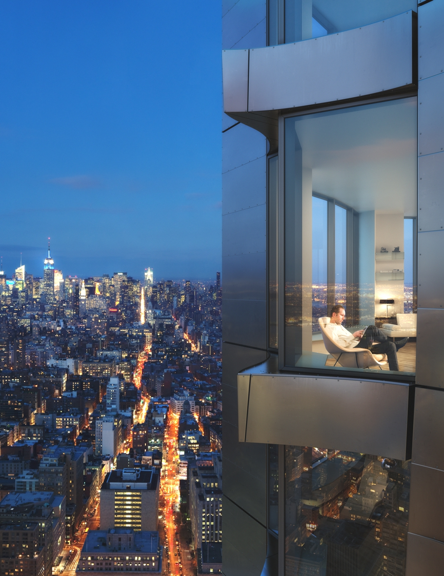 The luxury new york by gehry residential tower adelto adelto Modern residential towers