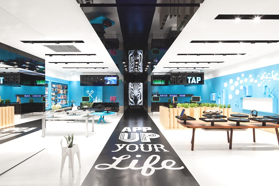 Visually stunning store concept in shenzhen china for Commercial interior design nyc