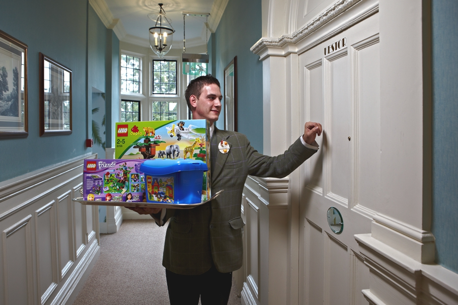 Lego room service at bovey castle devon england adelto for Luxury hotel company
