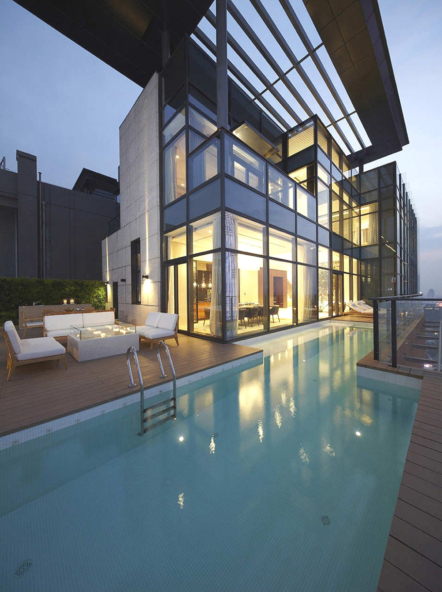Contemporary house of the tree shenzhen china adelto for Pool apartments