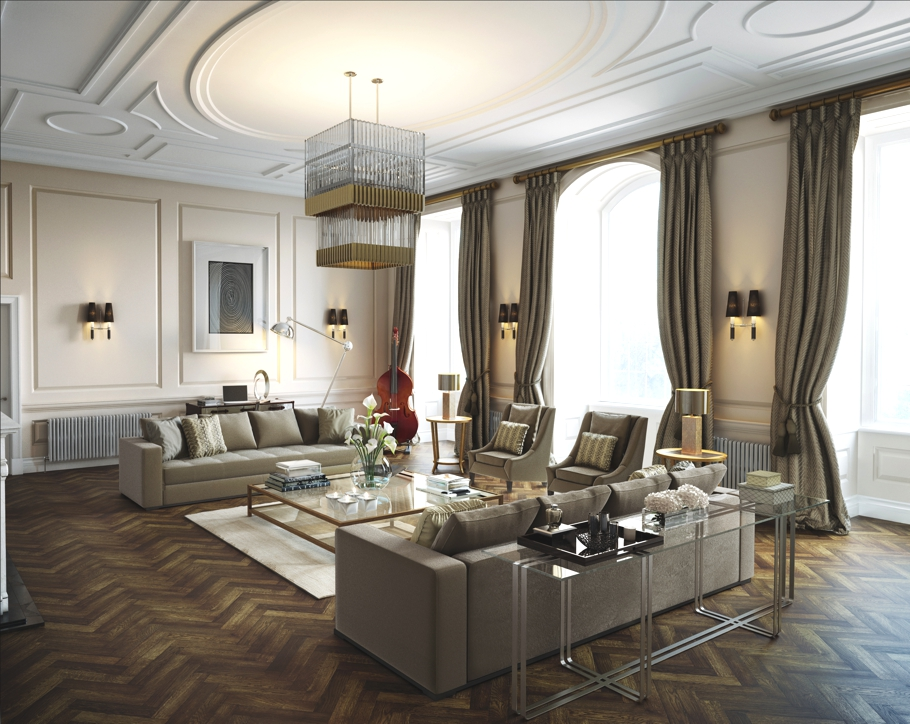 London 39 s luxurious roehampton mansion restored to its for Interior design south london