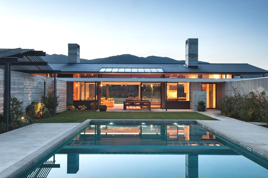 Luxury wairau valley property with outdoor swimming pool for Pool design new zealand