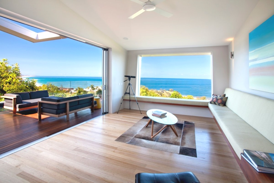 contemporary coolum bay beach house with dramatic lines australia