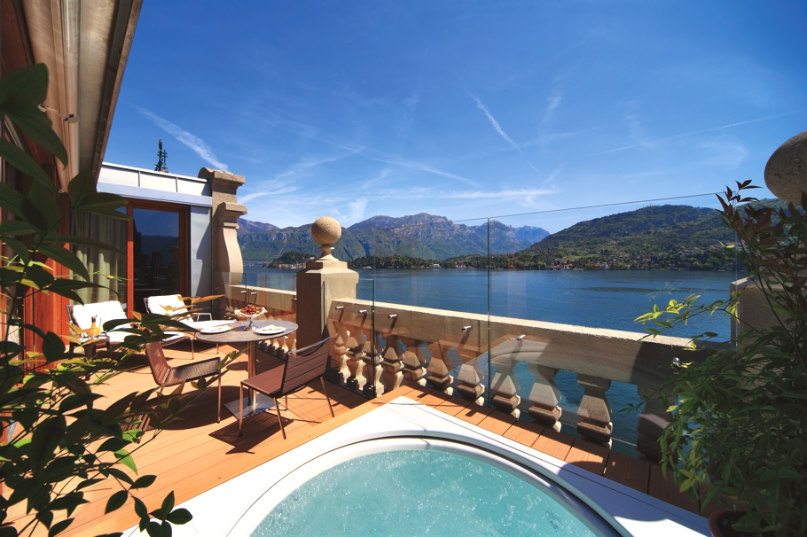 Grand hotel tremezzo with enchanting views across lake for Design hotel lake como