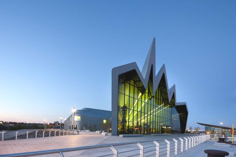 all aboard zaha hadid 39 s riverside museum scotland adelto adelto. Black Bedroom Furniture Sets. Home Design Ideas