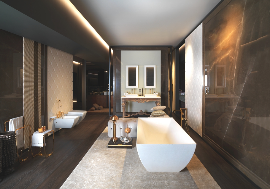 Gessi 39 s new stylish showroom in milan adelto adelto Luxury bathroom design oxford