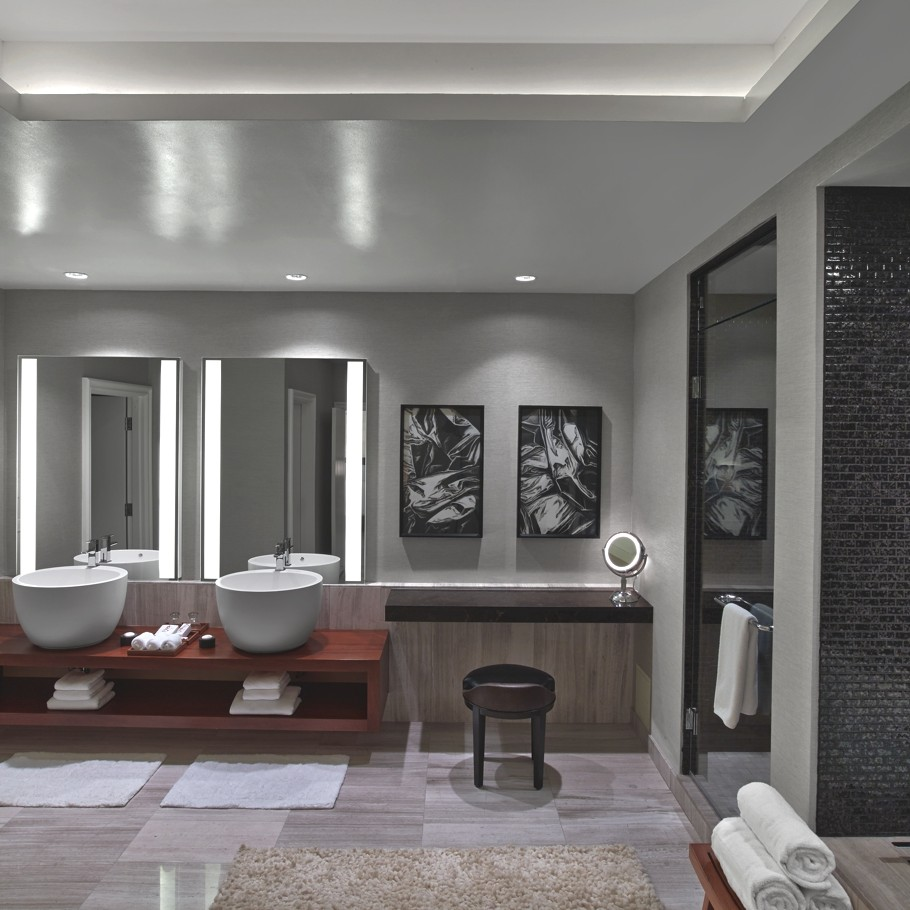 World s first nobu hotel the nobu hotel caesars palace - Bathroom remodeling las vegas nv ...