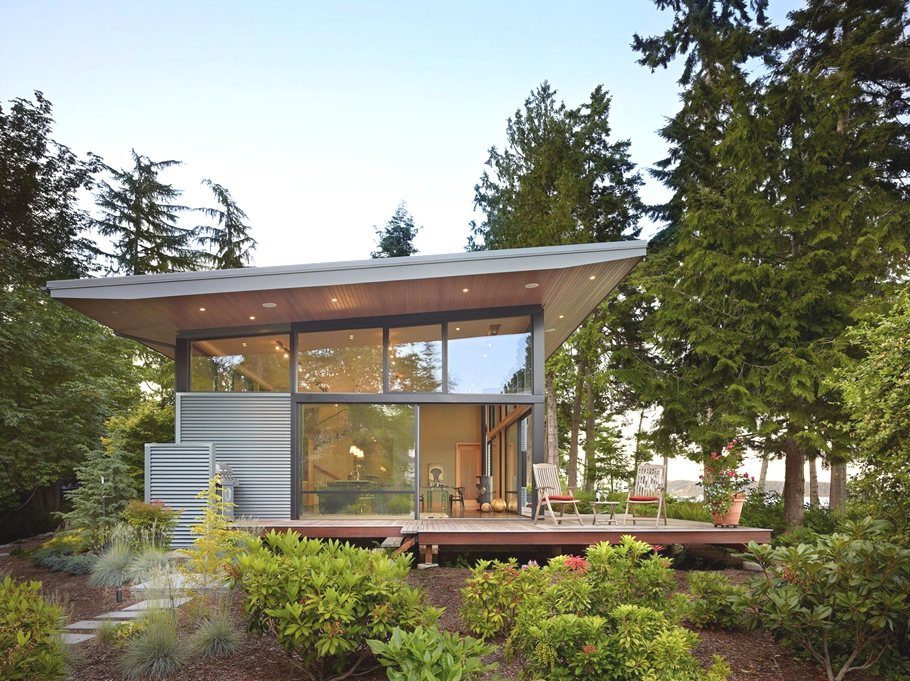 Contemporary design port ludlow residence washington for Washington state approved house plans