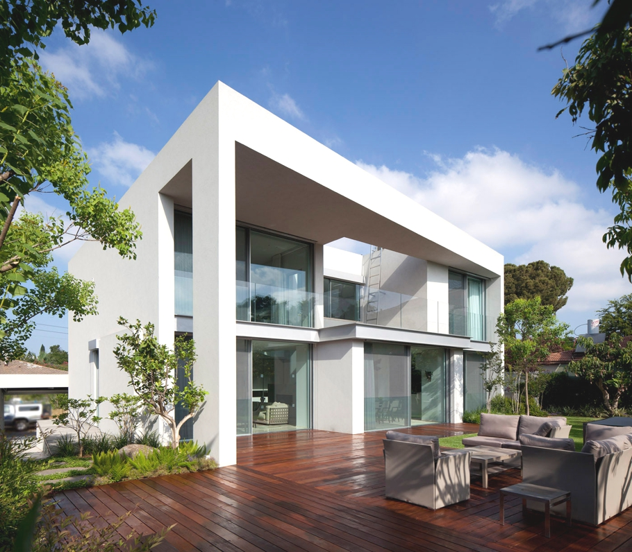 Luxury ch house in tel aviv israel by domb architects for Luxury home architects