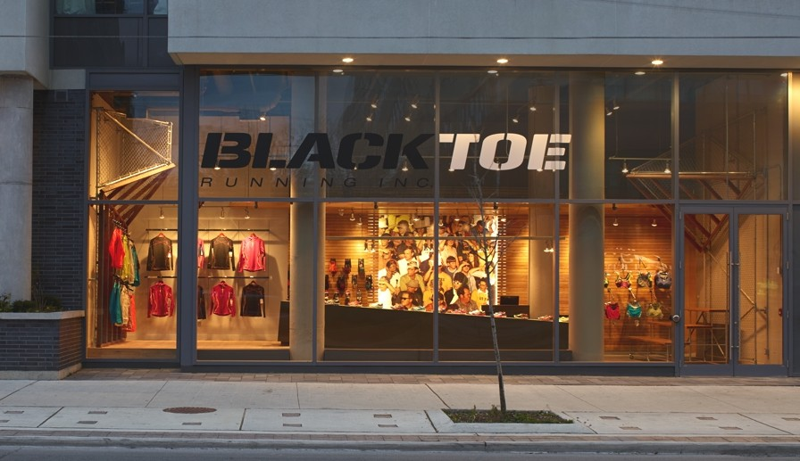 new high end running store situated in downtown toronto canada