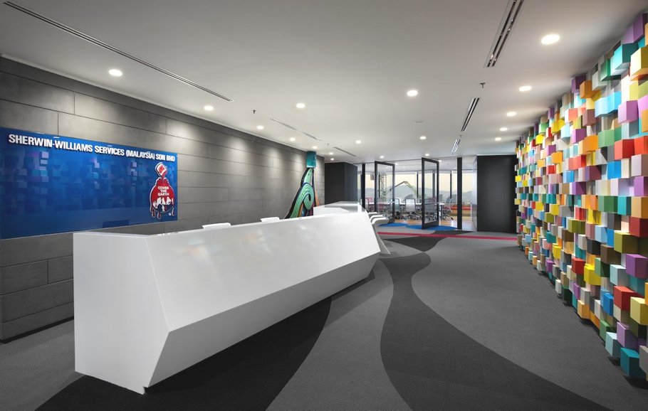 Funky office design for sherwin williams kuala lumpur for Office design malaysia