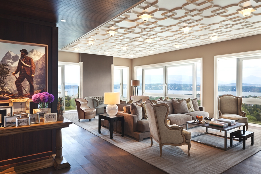 Ultra luxe the residences by intercontinental gen ve for Design hotel 16 geneva