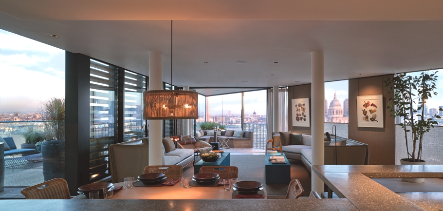 Penthouses At Neo Bankside With Panoramic Views Across