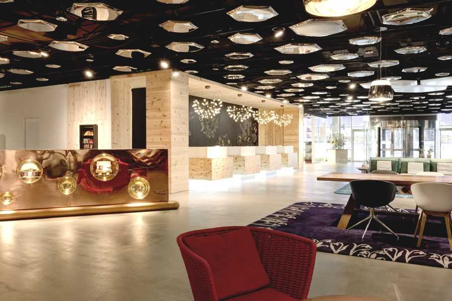 Stylish new lobby of swiss tel zurich unveiled adelto adelto for Interior design zurich
