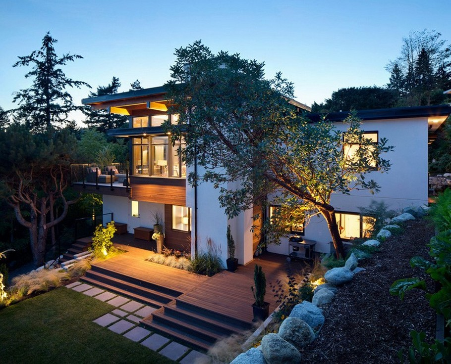 Luxury homes house architecture with stunning interior for Modern home design vancouver bc